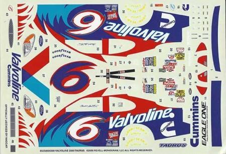 "2000 Revell #6 ""Valvoline"" Ford Taurus Mark Martin Decals"