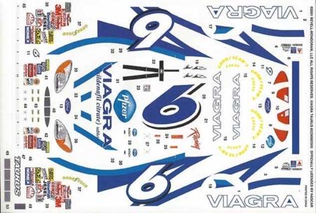 "2001 Revell #6 ""Viagra"" Ford Taurus Mark Martin Decals"