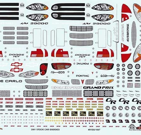2001 Slixx Goodies Sheet Decals