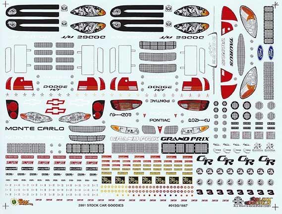 2001 Slixx Goodies Sheet Decals