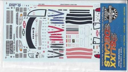 2002 Slixx Chevy Goodies Sheet Decals