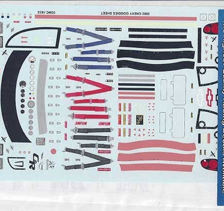 2002 Slixx Chevy Goodies Sheet Decals