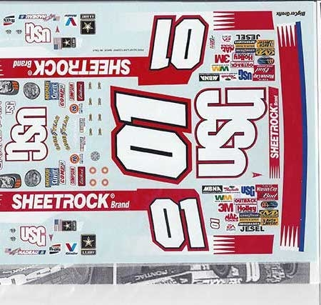"2003 JWTBM #01 ""USG Sheetrock"" Pontiac Grand Prix Jerry Nadeau Decals"