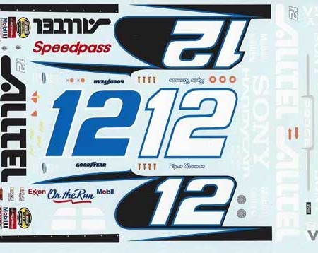"2004 JWTBM #12 ""Alltel"" Dodge Ryan Newman Decals"