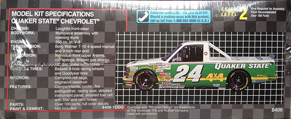 Amt Chevy Quakerstate on Nascar Lumina