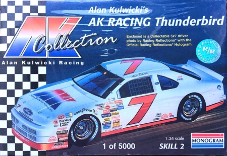 "1991 ""AK Racing"" Ford Thunderbird #7 Alan Kulwicki Monogram 0760"