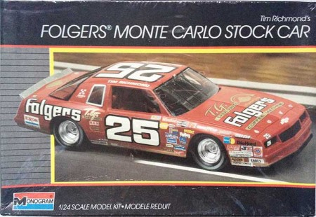 "1986 ""Folgers"" Chevy Monte Carlo #25 Tim Richmond - Monogram 2734"
