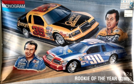 "1985 ""Rookie of the Year"" Ford Thunderbird #35 Alan Kulwicki #90 Ken Schrader Combo Monogram 6368"