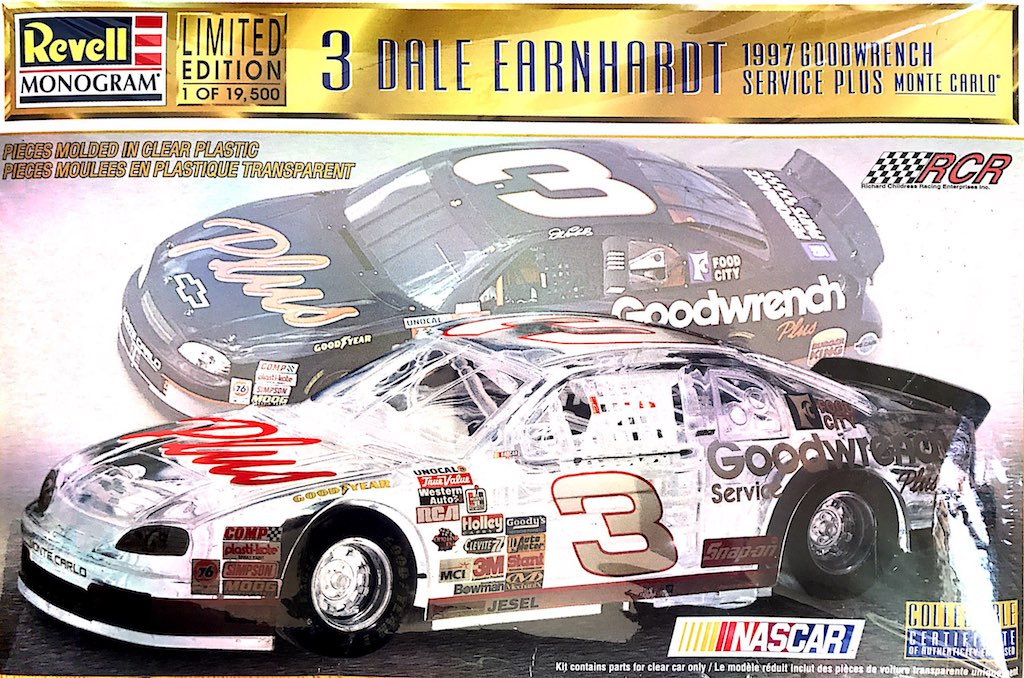 1997 Goodwrench Chevy Monte Carlo 3 Dale Earnhardt Clear Body Revell Monogram 85 4131