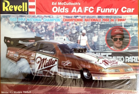 "1988 ""Miller"" Oldsmobile AA/FC Funny Car Ed McCulloch Revell 7122"