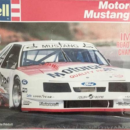 """1987 IMSA """"Motorcraft"""" Ford Mustang GTO #11 Scott Pruett Revell 7155"""